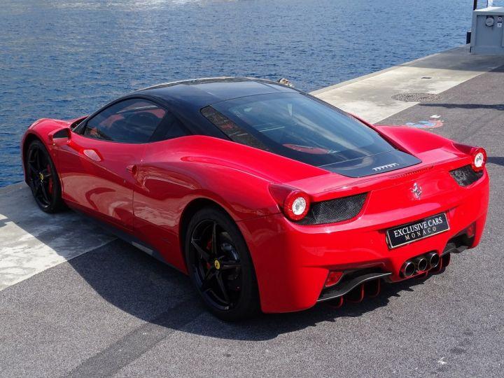Ferrari 458 Italia FERRARI 458 ITALIA F1 DCT 570 CV - MONACO Rosso Corsa avec toit Noir - 16