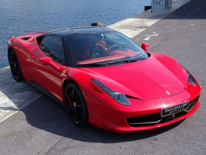 Ferrari 458 Italia FERRARI 458 ITALIA F1 DCT 570 CV - MONACO Rosso Corsa avec toit Noir - 17