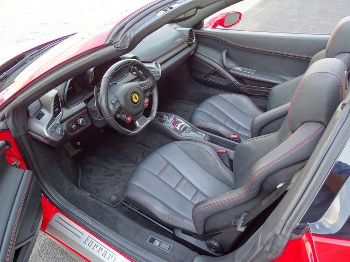 Ferrari 458 Spider V8 4.5 F1 570CV - MONACO Rosso Corsa - 8