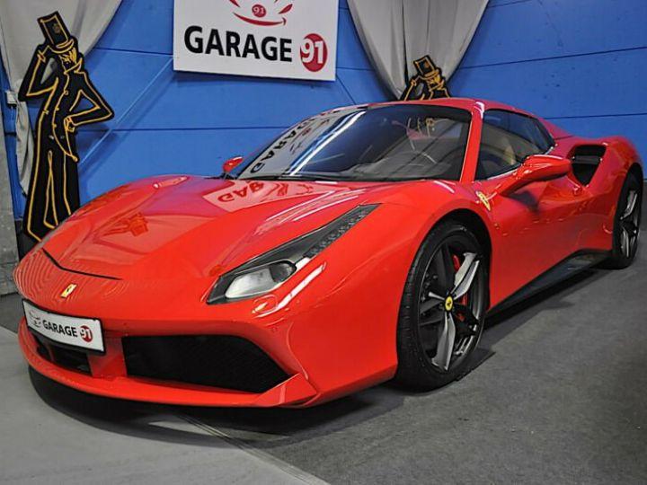 Ferrari 488 Spider Ferrari 488 Spider 670 CV PACK CARBONE/ GARANTIE 12 MOIS  Rouge - 1