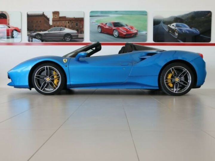 Ferrari 488 Spider V8 3.9 T 670ch#Blue Corsa Blu Corsa - 4