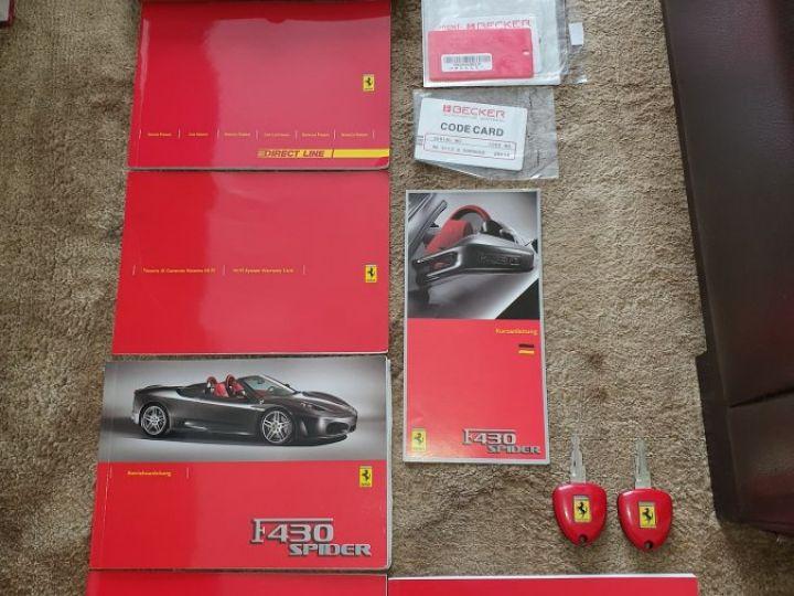 Ferrari F430 Spider RARISSIME FERRARI F430 SPIDER 4.3 V8 490ch BOITE MECANIQUE ROSSO ECUSSON DAYTONA CARBONE COLLECTOR ROSSO CORSA - 20