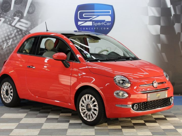 Fiat 500 0.9 8V 85CH TWINAIR S/S LOUNGE Corail red Occasion - 1