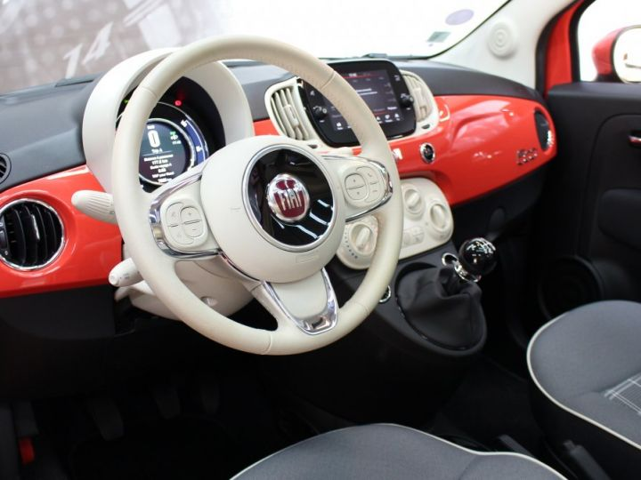 Fiat 500 0.9 8V 85CH TWINAIR S/S LOUNGE Corail red Occasion - 16