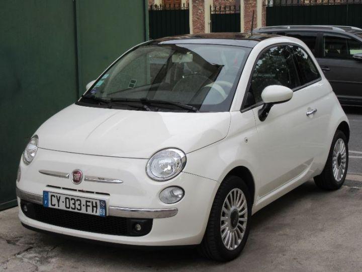 Fiat 500 1.2 8V 69CH LOUNGE BLANC Occasion - 1