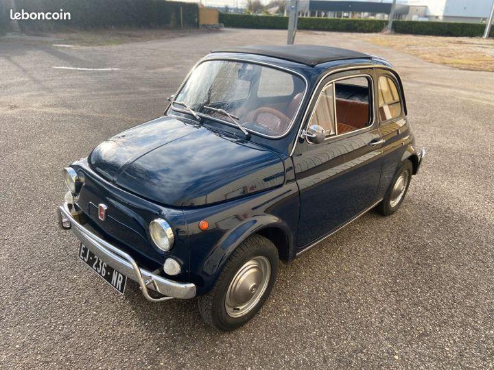 Fiat 500 500l 110f 1972 avec historique Bleu - 1