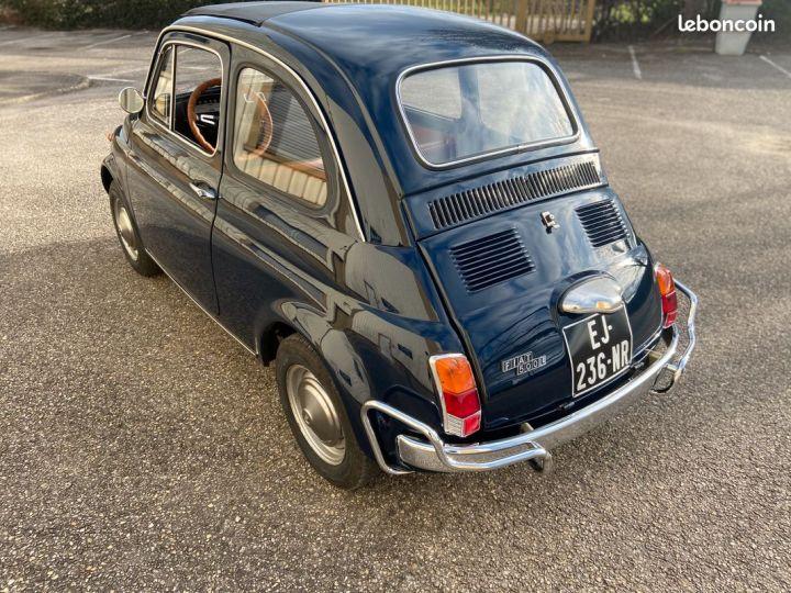 Fiat 500 500l 110f 1972 avec historique Bleu - 3