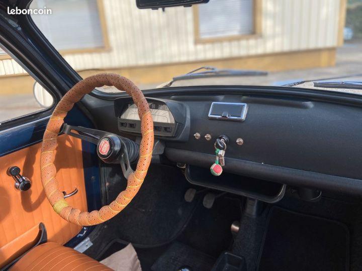 Fiat 500 500l 110f 1972 avec historique Bleu - 7