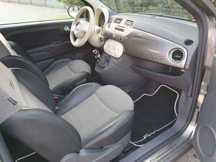 Fiat 500 c cabriolet ii 1.2 8v 69 lounge bv5 i Gris Anthracite Occasion - 8
