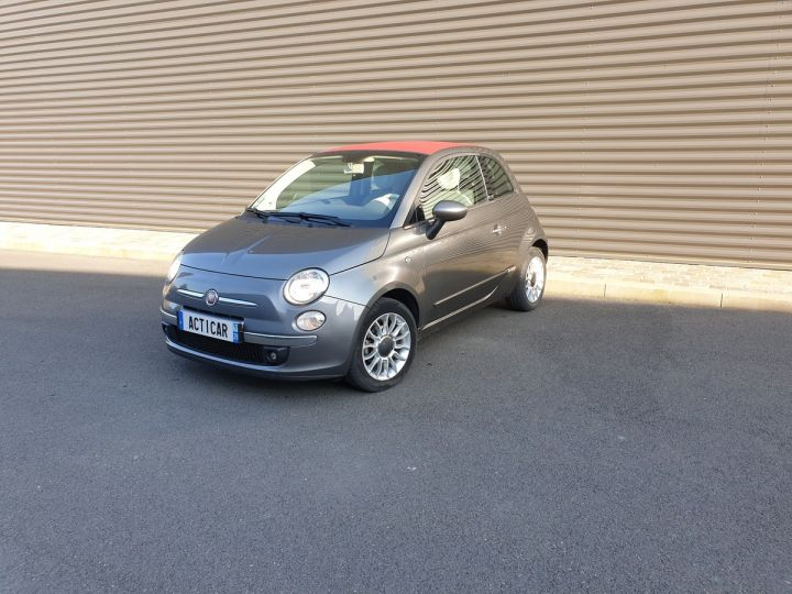 Fiat 500 c cabriolet ii 1.2 8v 69 lounge bv5 iii Gris Anthracite Occasion - 1