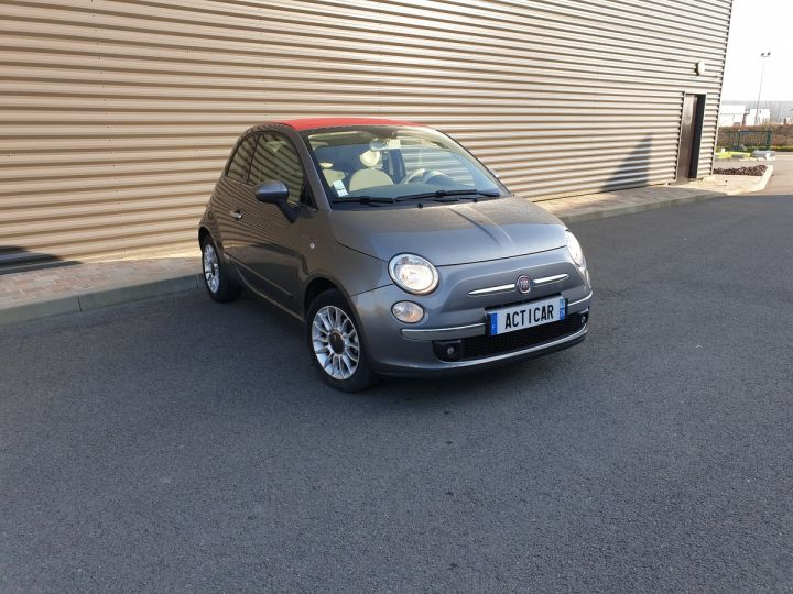 Fiat 500 c cabriolet ii 1.2 8v 69 lounge bv5 iii Gris Anthracite Occasion - 2