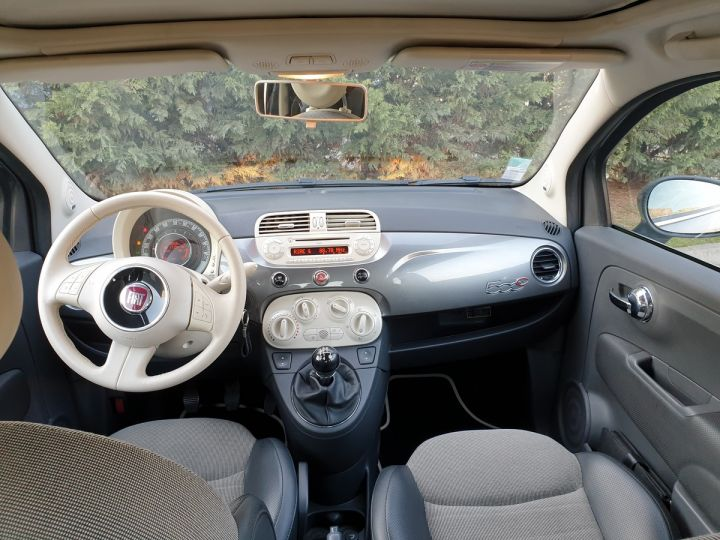 Fiat 500 c cabriolet ii 1.2 8v 69 lounge bv5 iii Gris Anthracite Occasion - 7