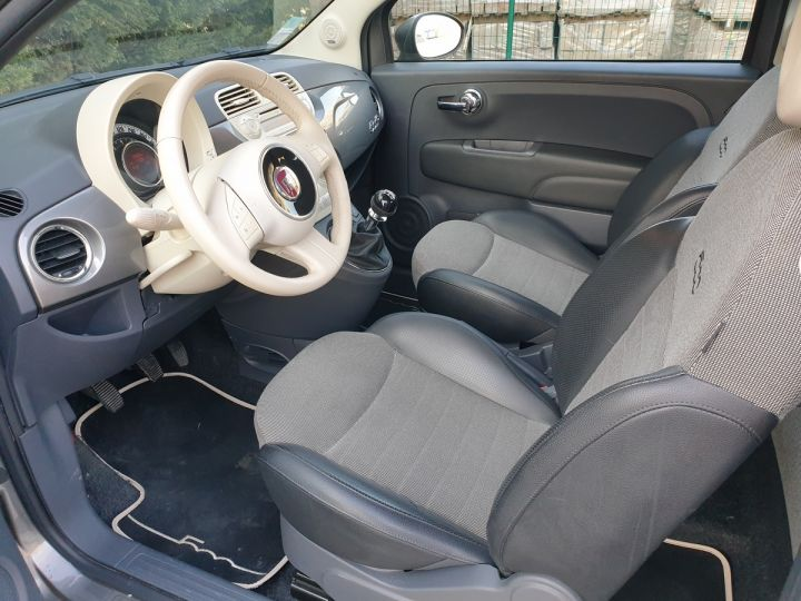 Fiat 500 c cabriolet ii 1.2 8v 69 lounge bv5 iii Gris Anthracite Occasion - 9