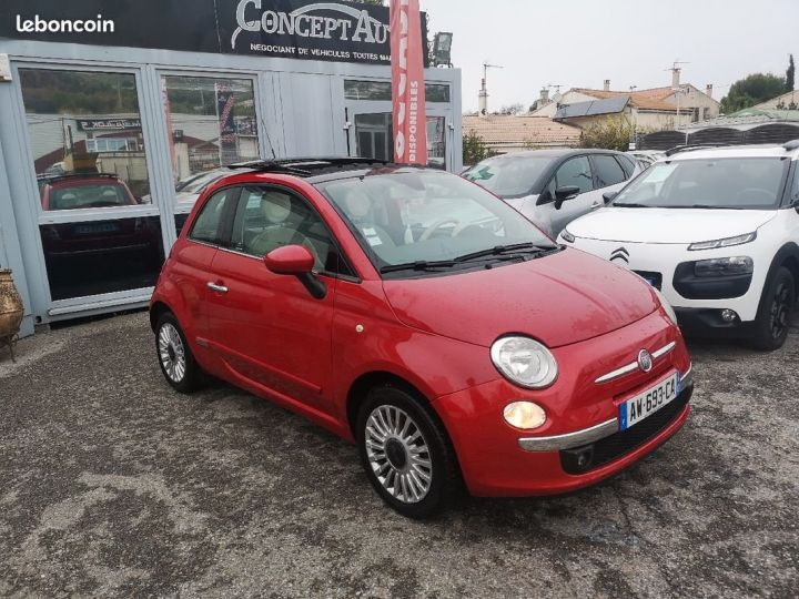 Fiat 500 LOUNGE ROUGE METAL  Occasion - 1