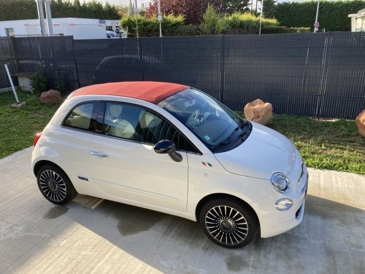 Fiat 500C FIAT 500 C 1,2 8V 69 CH LOUNGE  BLANC BOSSA NOVA  - 8