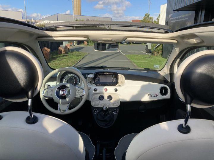 Fiat 500C FIAT 500 C 1,2 8V 69 CH LOUNGE  BLANC BOSSA NOVA  - 12