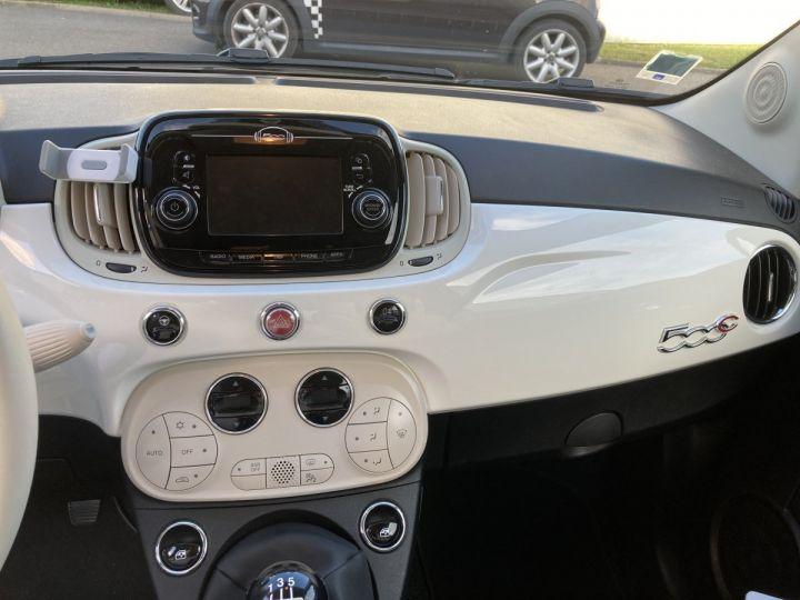 Fiat 500C FIAT 500 C 1,2 8V 69 CH LOUNGE  BLANC BOSSA NOVA  - 17
