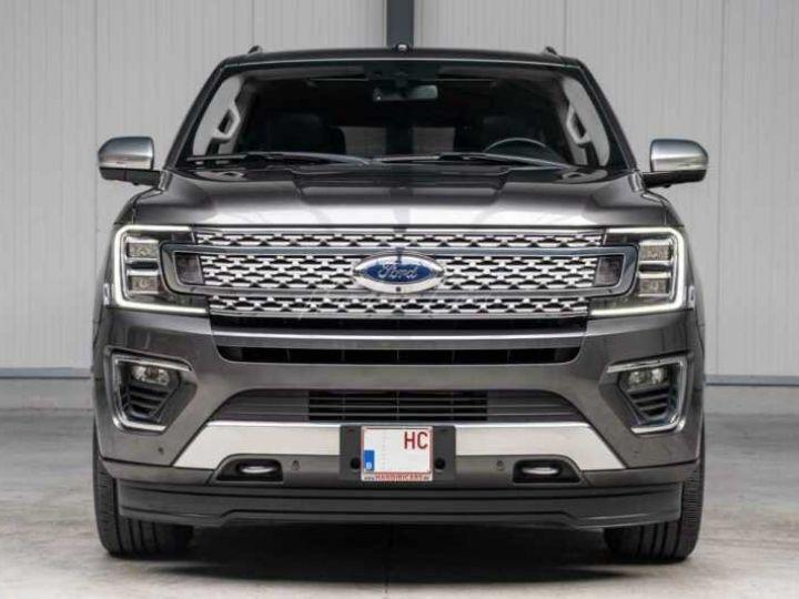 Ford Expedition Max Platinum **Exclusivité** 2019 V6 3.5 Ecoboost 405CV 8pl / FRAIS INCLUS Gris Foncé - 1