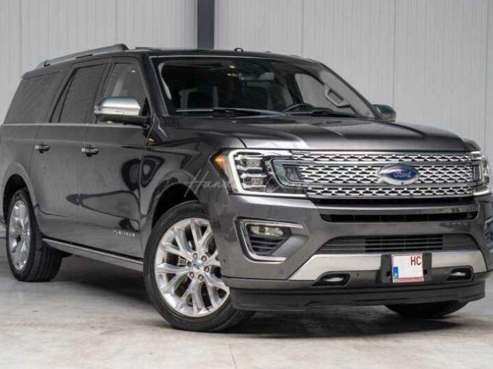 Ford Expedition Max Platinum **Exclusivité** 2019 V6 3.5 Ecoboost 405CV 8pl / FRAIS INCLUS Gris Foncé - 2