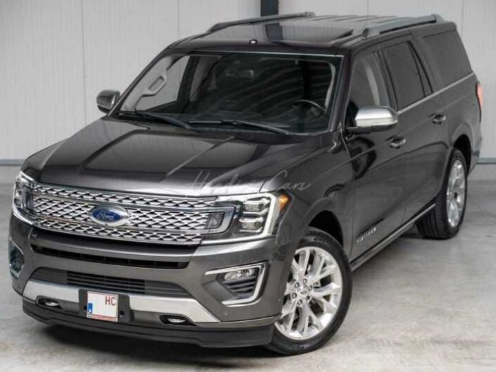 Ford Expedition Max Platinum **Exclusivité** 2019 V6 3.5 Ecoboost 405CV 8pl / FRAIS INCLUS Gris Foncé - 3