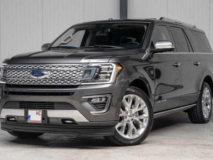 Ford Expedition Max Platinum **Exclusivité** 2019 V6 3.5 Ecoboost 405CV 8pl / FRAIS INCLUS Gris Foncé - 18