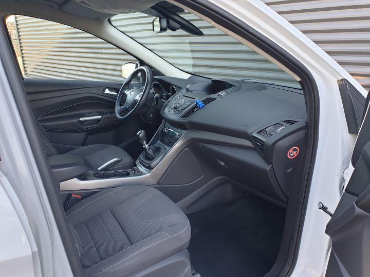 Ford Kuga ii 2.0 tdci 140 4x2 titanium bv6 iiii Blanc Occasion - 6