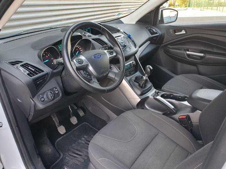 Ford Kuga ii 2.0 tdci 140 4x2 titanium bv6 iiii Blanc Occasion - 8