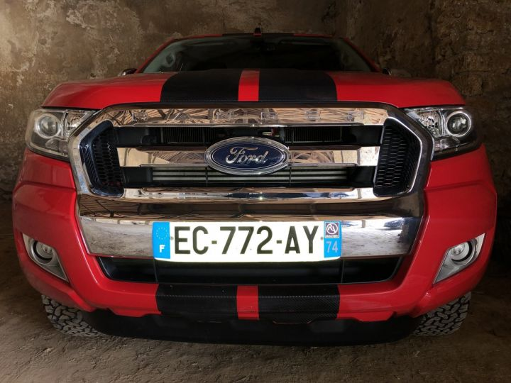 Ford Ranger 2.2 TDCI SUPER CAB XLT SPORT BENNE HYDRAULIQUE ROUGE Vendu - 5