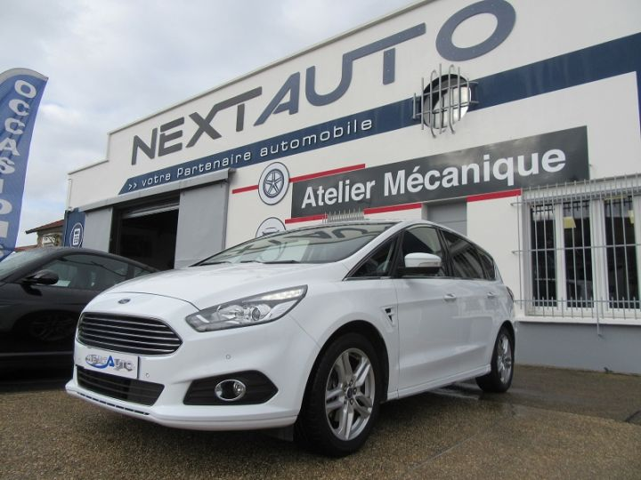 Ford S-MAX 2.0 TDCI 180CH STOP&START TITANIUM Blanc Occasion - 1