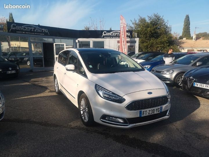 Ford S-MAX vignale BLANC METAL Occasion - 1
