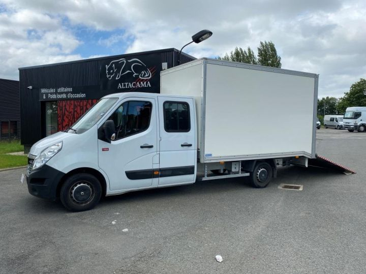 Fourgon Renault Master Chassis cabine 125 CV FOURGON 17m3 PAN COUPE DOUBLE CABINE 7 PLACES RAMPE ALUMINIUM MANUELLE   BLANC - 1