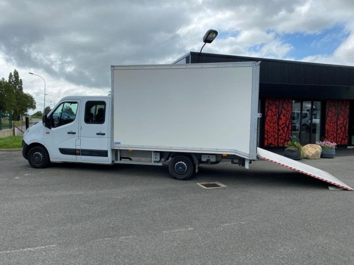 Fourgon Renault Master Chassis cabine 125 CV FOURGON 17m3 PAN COUPE DOUBLE CABINE 7 PLACES RAMPE ALUMINIUM MANUELLE   BLANC - 2