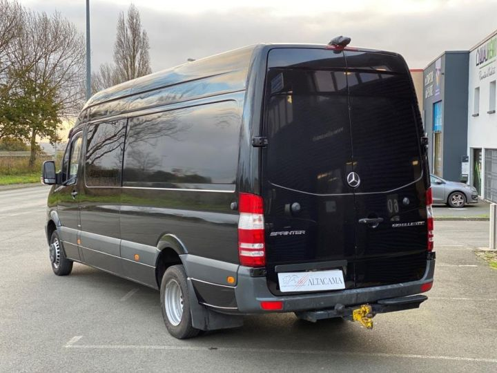 Fourgon Mercedes Sprinter 519 43 S FOURGON CABINE APPROFONDIE 5 PLACES CROCHET BOITE AUTOMATIQUE NOIR - 3