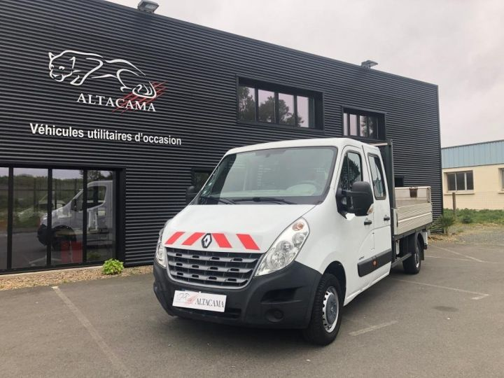 Fourgon Renault Master Plateau 7 PLACES HAYON DOUBLE CABINE BLANC - 2