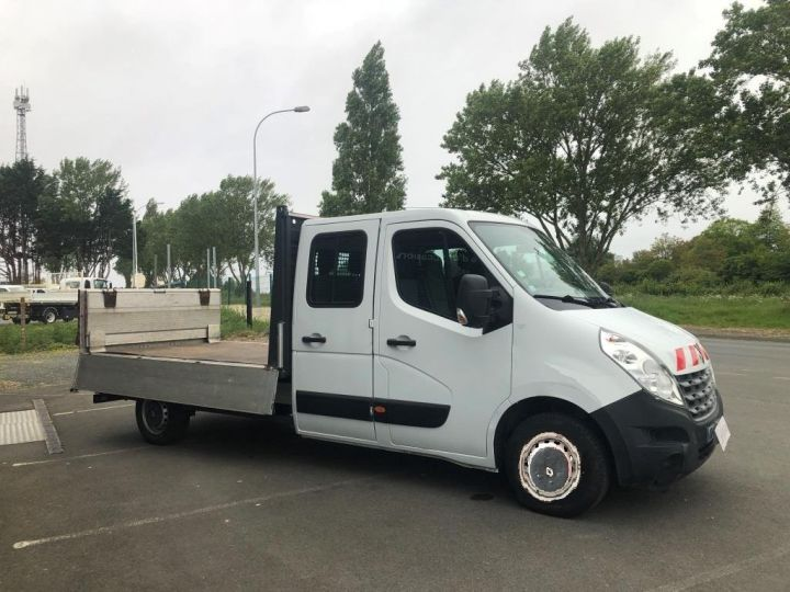 Fourgon Renault Master Plateau 7 PLACES HAYON DOUBLE CABINE BLANC - 3