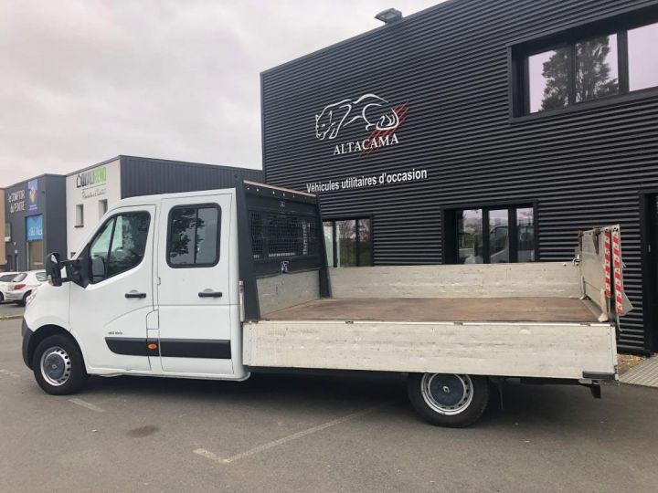 Fourgon Renault Master Plateau 7 PLACES HAYON DOUBLE CABINE BLANC - 4