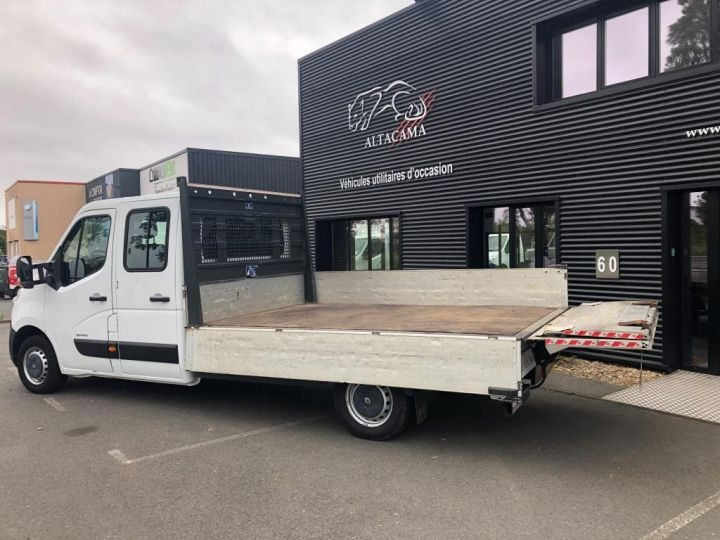 Fourgon Renault Master Plateau 7 PLACES HAYON DOUBLE CABINE BLANC - 5