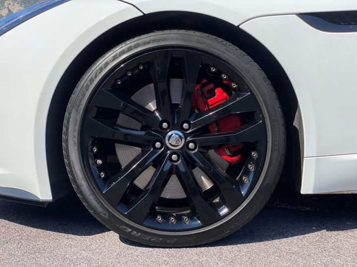 Jaguar F-Type CABRIO 5.0 V8 S 495 CV - MONACO Blanc Polaris Metal - 15