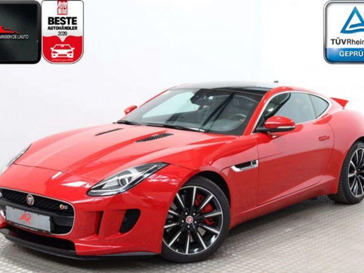 Jaguar F-Type Coupe 3.0 V6 380ch S BVA8 *Toit pano-Cuir-Pack Sport* Livraison & Garantie 12 mois Rouge - 1