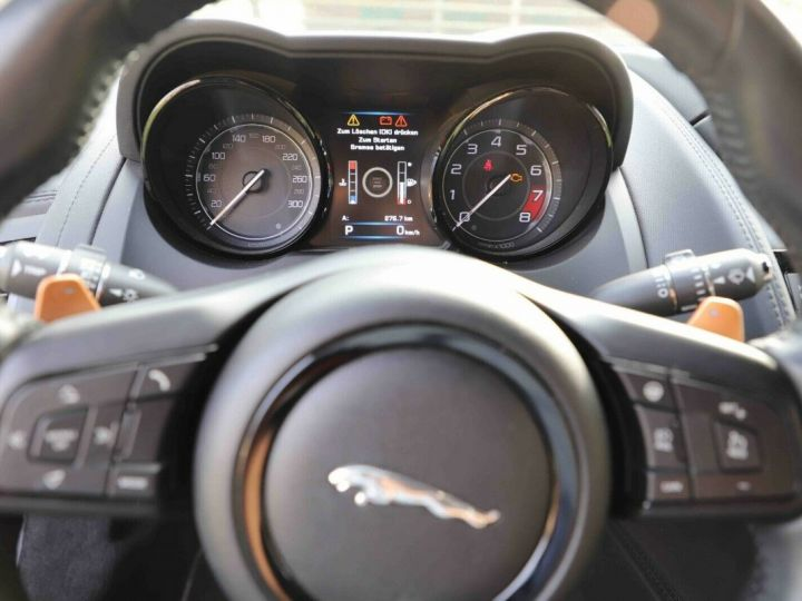 Jaguar F-Type Jaguar F-Type Cabriolet 3.0 V6 380ch S BVA8 Livraison et Garantie 12 Mois Inclus Gris Foncé Stratus - 2