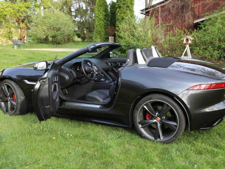 Jaguar F-Type Jaguar F-Type Cabriolet 3.0 V6 380ch S BVA8 Livraison et Garantie 12 Mois Inclus Gris Foncé Stratus - 5