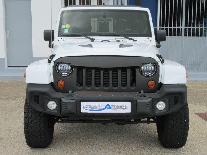 Jeep WRANGLER 2.8 CRD 200 FAP UNLIMITED SAHARA BVA BLANC Occasion - 7