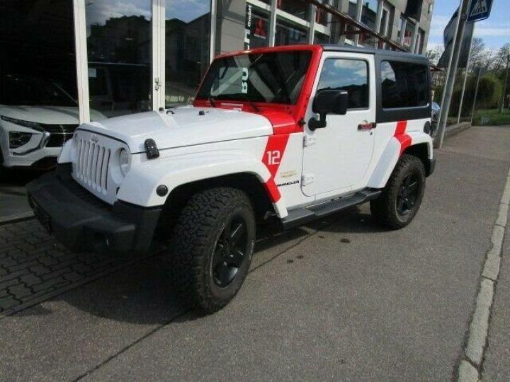 Jeep Wrangler Jeep Wrangler 2.8 CRD 200ch Unlimired Sahara BVA: GPS/ Attelage/ Gtie 12Mois/ TOUT INCLUS Blanc - 1