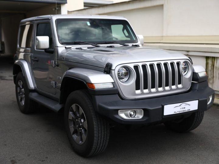 Jeep Wrangler JEEP WRANGLER IV 2.0 I T 272 4WD OVERLAND AUTO 2PORTES / MALUS PAYE Gris Metal - 3