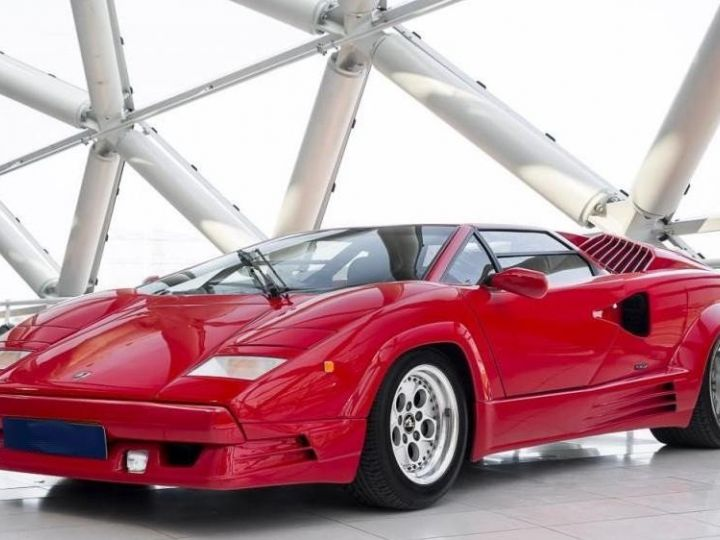 Lamborghini Countach 25th anniversary rouge - 1