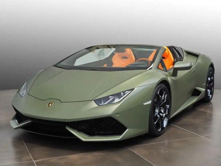 Lamborghini Huracan Verde Baca mat - 1