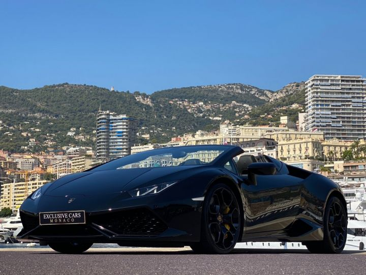 Lamborghini Huracan LP610-4 SPYDER 610 CV - MONACO Noir Noctis - 13
