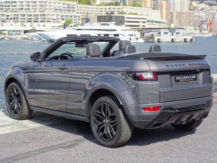 Land Rover Range Rover Evoque CABRIOLET 2.0 TD4 HSE DYNAMIC 180 CV BLACK LINE Gris Métal  - 4