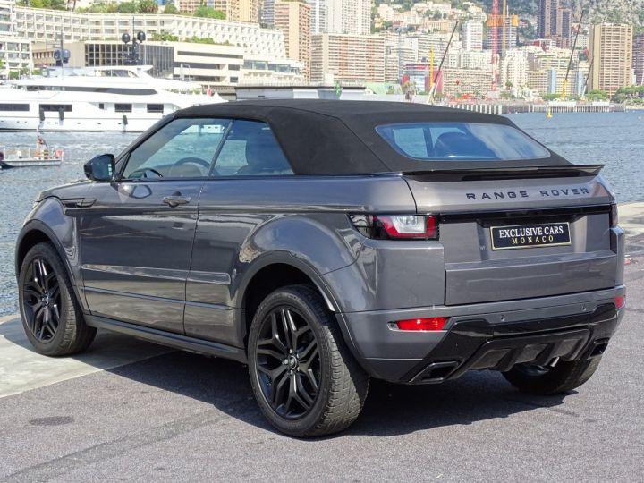 Land Rover Range Rover Evoque CABRIOLET 2.0 TD4 HSE DYNAMIC 180 CV BLACK LINE Gris Métal  - 15