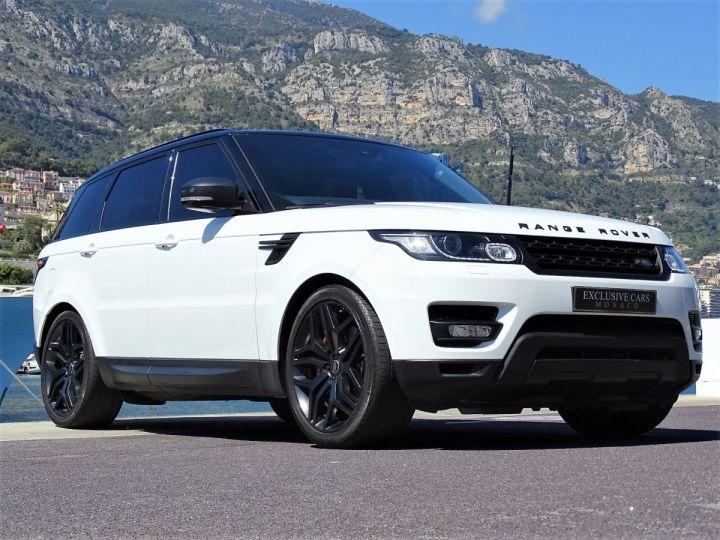Land Rover Range Rover Sport SDV6 HSE DYNAMIC 306 CV BLACK LINE - MONACO Blanc Fuji White - 13